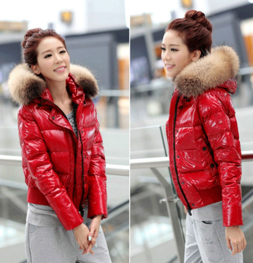 New 2017 Winter Women's Parka Short Luxury White Duck Down Jacket Thicken Female Black Red Coat Outerwear Clothes High Quality