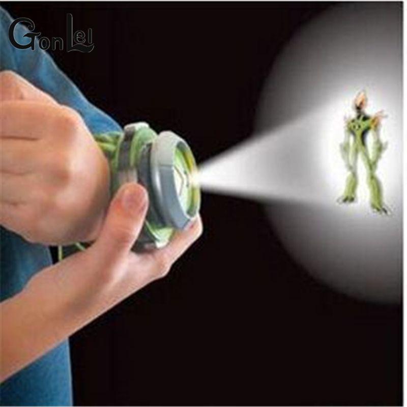 GonLeI 2015 vente chaude Ben 10 Style japon projecteur montre BAN DAI jouets authentiques pour enfants enfants diaporama bracelet de montre goutte