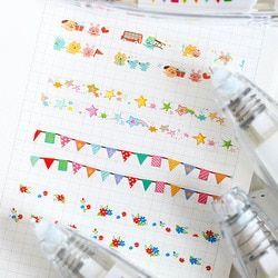 Cute Cartoon Decorative Correction Tape Kawaii Flower Lace Decoration Tape For Kids School Scrapbooking Diary Gifts Stationery