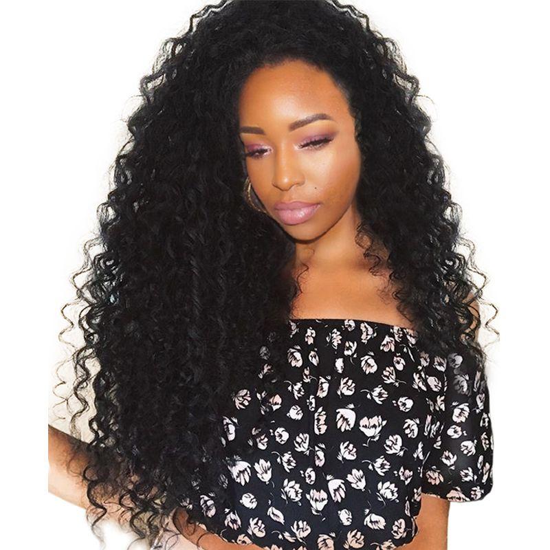 250% dichte Spitzefront Menschliches Haar Perücken Brasilianische Lockige Menschliche haar Perücken Pre Gezupft Mit Babyhaar Sunny Königin Remy haar