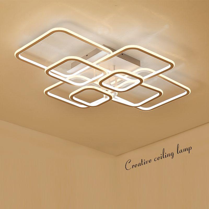 Doppel Leuchten Hohe Helligkeit moderne led Kronleuchter für wohnzimmer schlafzimmer Platz Kreis Ringe avize Decke Kronleuchter Leuchten