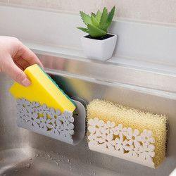Держатель для губок на кухню кухонный стеллаж для хранения всасывающий кухонный держатель для очистки клипса тряпичная полая сушилка для м...