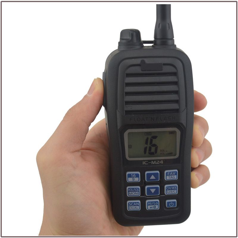 Hot Sale FLOAT'N FLASH IC-M24 VHF Marine Transceiver Waterproof (Submersible construction equivalent to IPX7) for icom