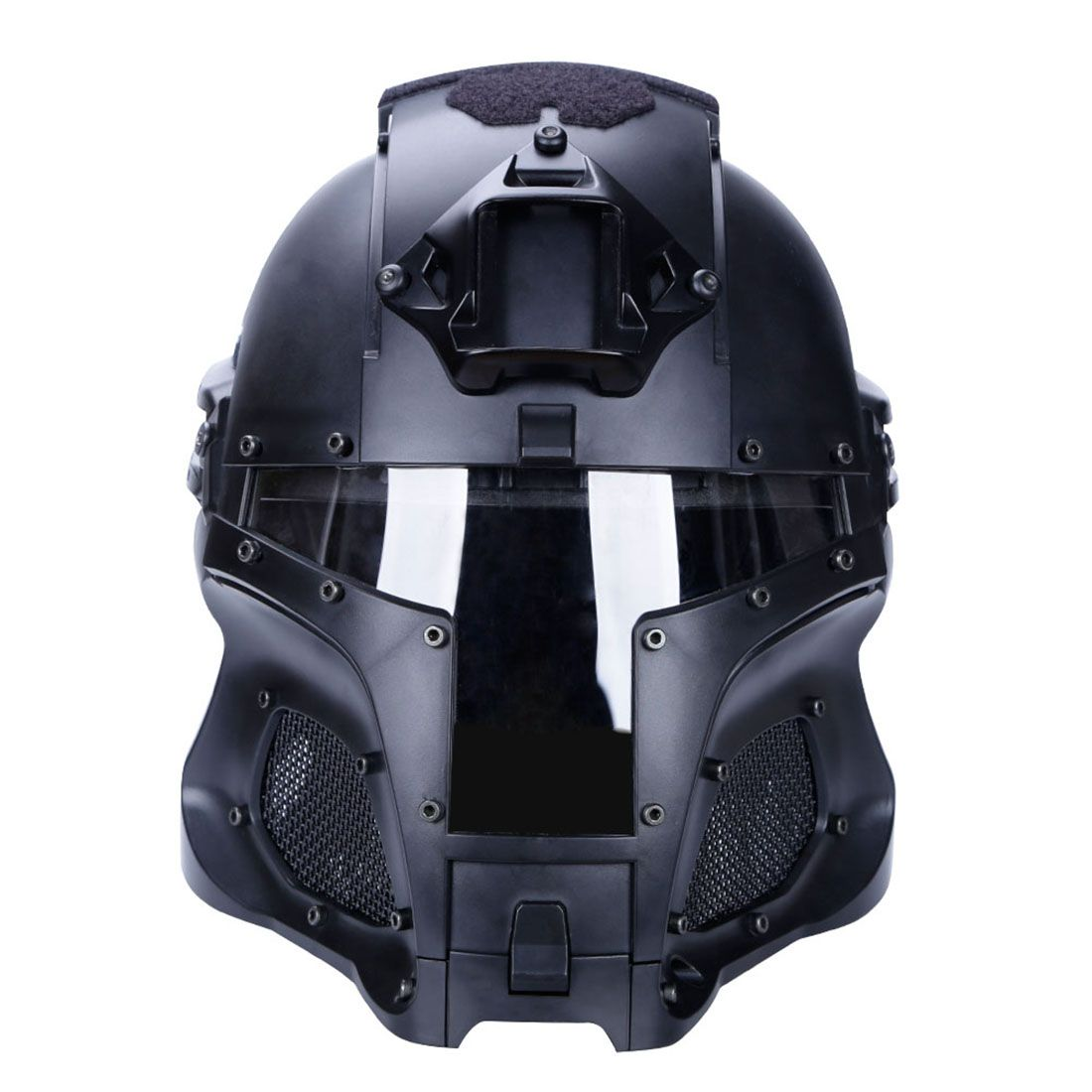 NFSTRIKE Military Tactical Accessories WST Medieval Iron Knight Tactics Helmet For Outdoor Activity Game - Black