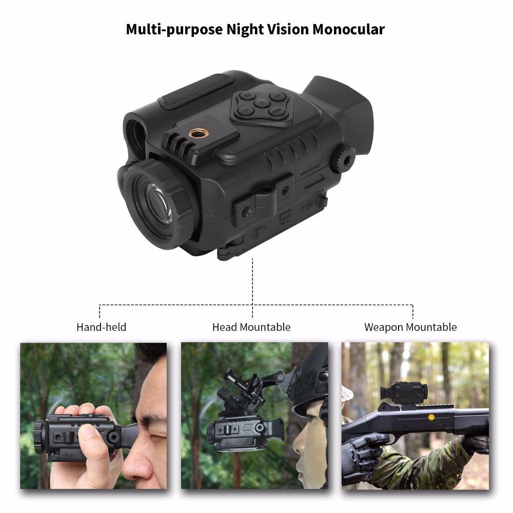 Multi-funtional Night Vision 850NM 200m Scope Night Infrared Riflescope Auto IR Helmet Wild Scouting Hunting Binocular Drop Ship
