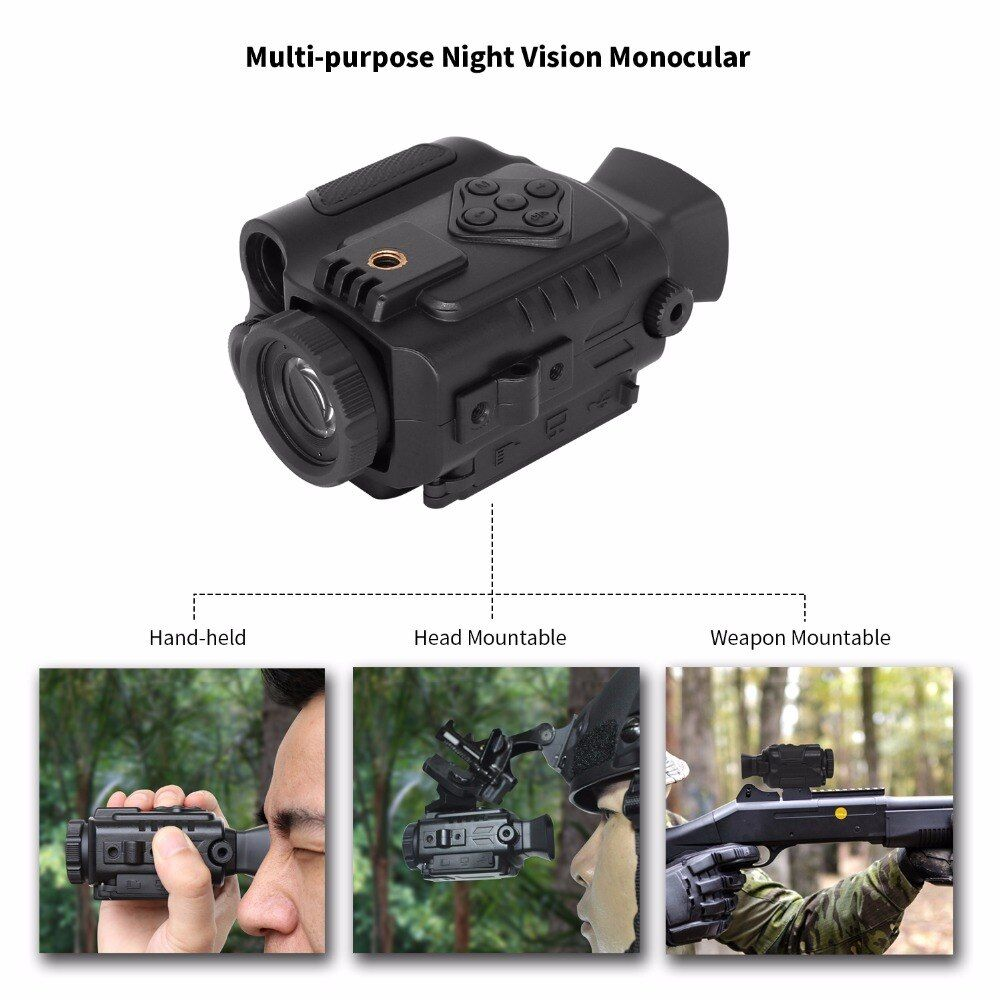 Multi-funtional Night Vision 850NM 200m Scope Night Infrared Riflescope Auto IR Helmet Wild Scouting Hunting Binocular Drop Ship