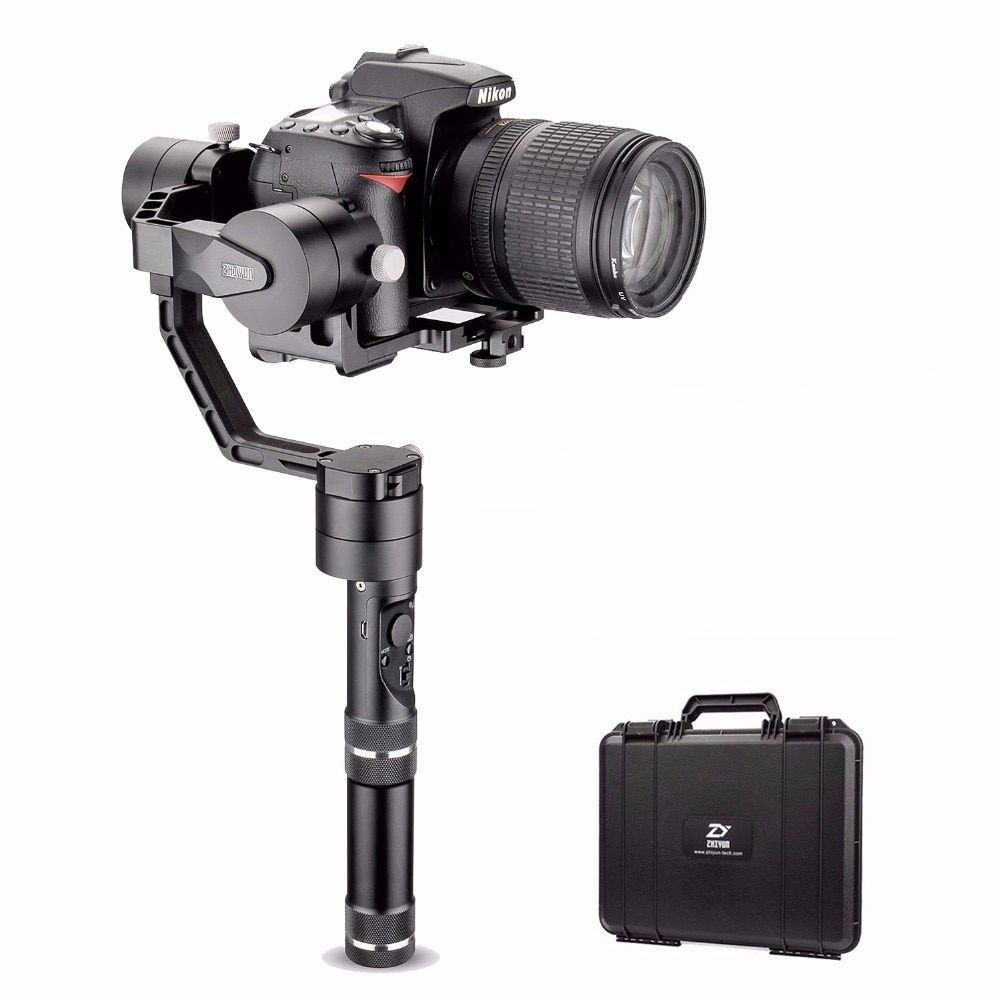 Zhiyun Tech Crane V2 3-Axis Bluetooth Handheld Gimbal Stabilizer for ILC Mirrorless Cameras Includes Hard Case