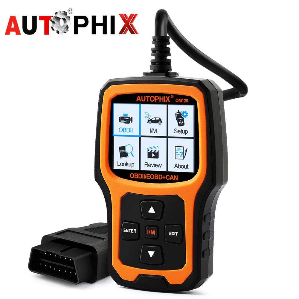 AUTOPHIX om126 инструмент диагностики OBD2 адаптер сканер ремонт Automotivo OBDII Анализатор работы двигателя код читателя для автомобиля диагностический...