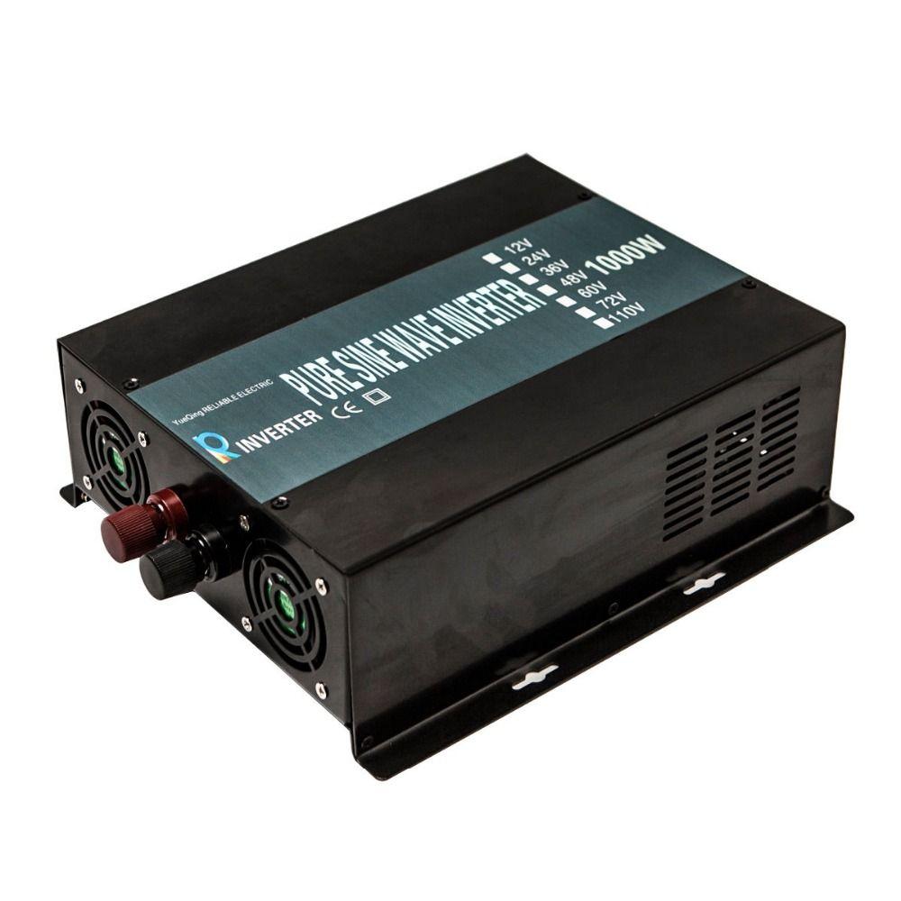 2000W Peak Pure Sine Wave Inverter 12V 240V 1000W Power Inverter Generator Voltage Converter 12V/24V/48V DC to 110V/120V/220V AC