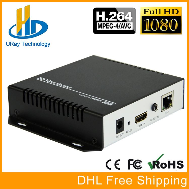 DHL Free Shipping H.264 Video Encoder Support HDCP HDMI To IP Live Streaming Encoder IPTV Hardware RTMP RTSP HLS UDP Streamer