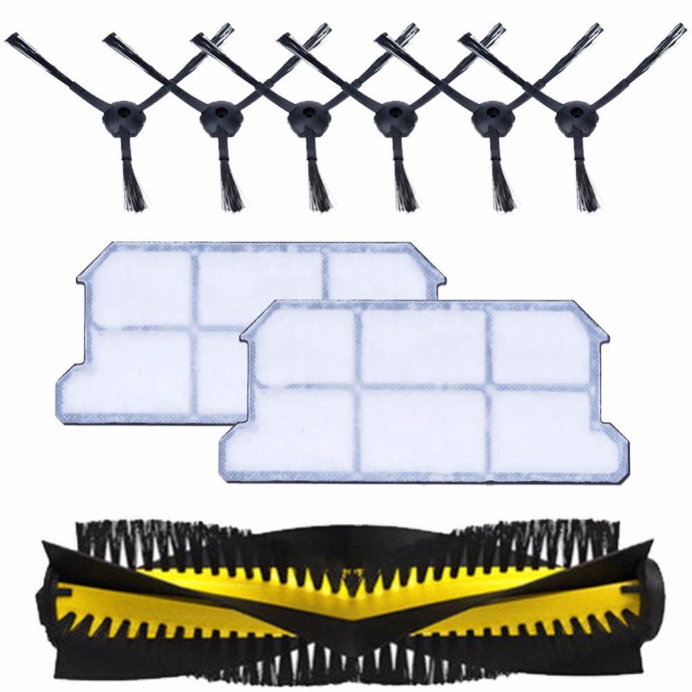 1x brosse principale + 6x brosse latérale + 2x poussière hepa filtre kit pour chuwi ilife v7 v7s v7s pro robotique Aspirateur pièces