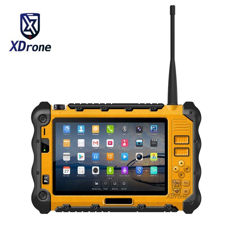 China P12 Robuste Industrie Wasserdicht Stoßfest Android Tablet PC UHF PTT Walkie talkie Radio 7 Zoll 3 GB RAM Dual sim GPS 4G