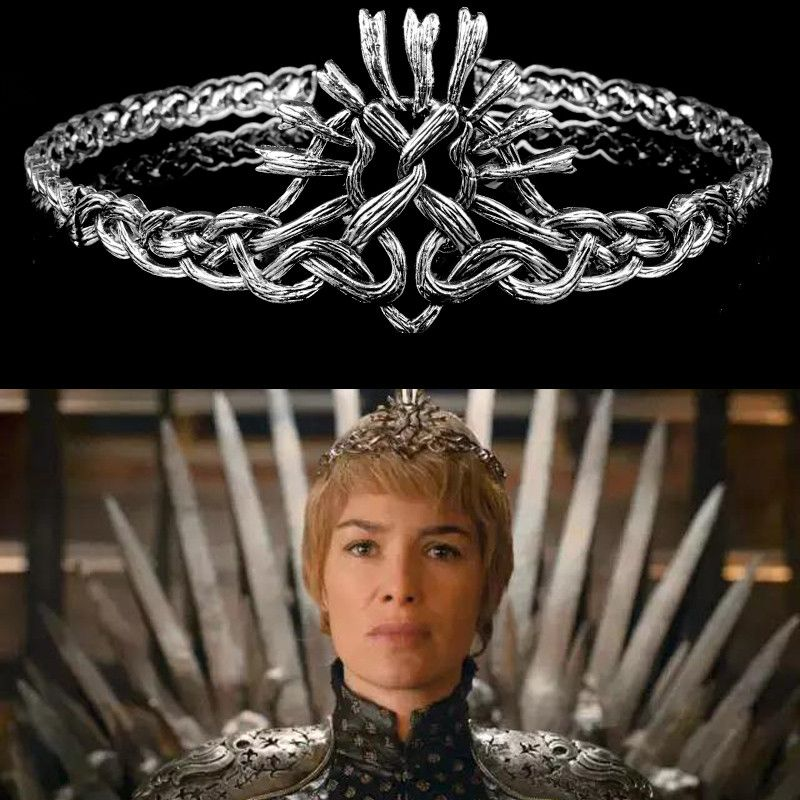 Game of Thrones Cersei Lannister Cosplay Crown Headband Metal Headwear Hair Bands Props Accessories Women Christmas Gift