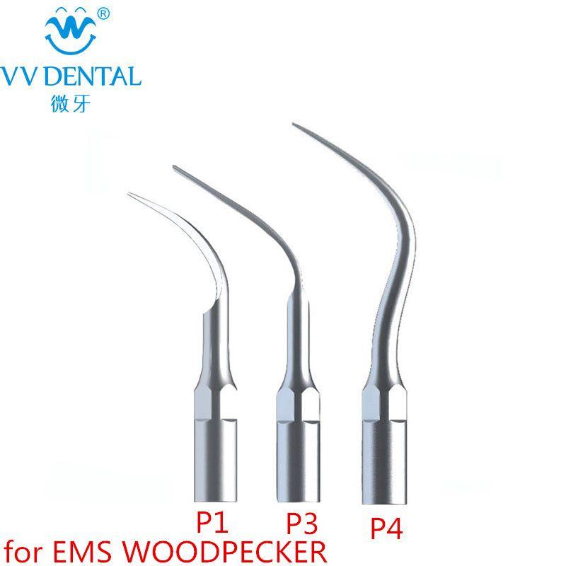 Nouveau 3 pcs/lot Détartreur Ultrasonique Dentaire Conseils P1 P3 P4 Avec EMS/DÉTARTREUR dentaire De Blanchiment Des Dents Dentaire Outils