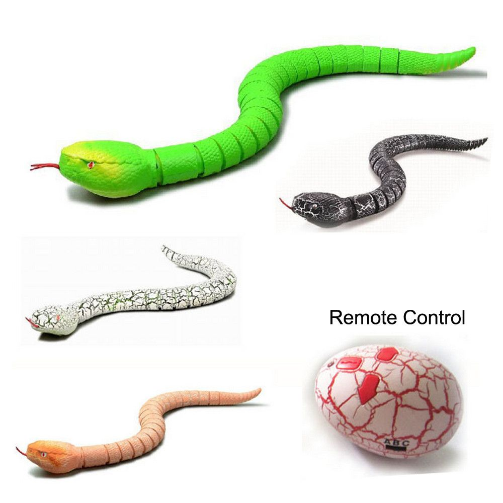 Remote Control Snake Rattlesnake Animal Trick Terrifying Mischief Toy Rechargeable Funny Joke Gift Drop Shipping