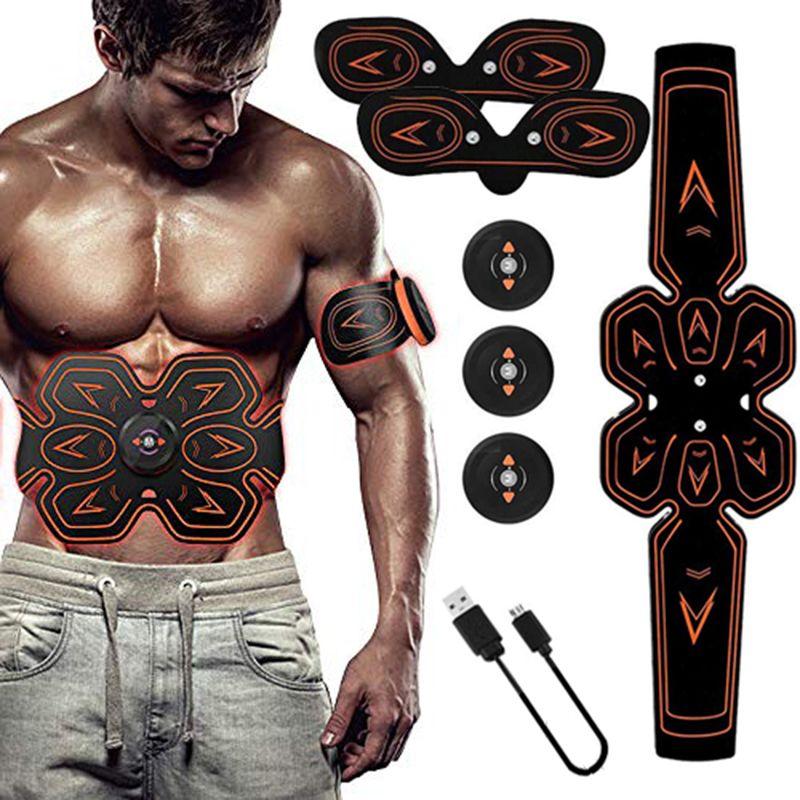 USB Charged Muscle Stimulator Abdominal Musculaire Electrostimulation Electro Stimulator Home Gym Belly Arm Leg Massage Unisex