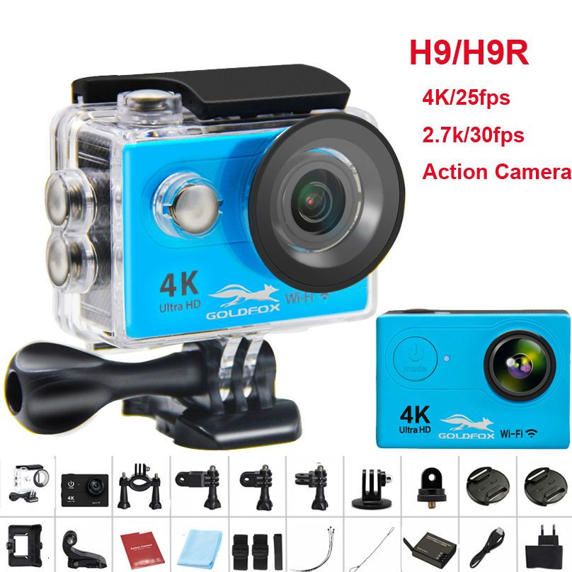 GOLDFOX H9/H9R Action camera remote Ultra HD 4K WiFi Camcorder 1080P/60fps 2.0 LCD 170D Helmet Cam go 30M waterproof pro camera