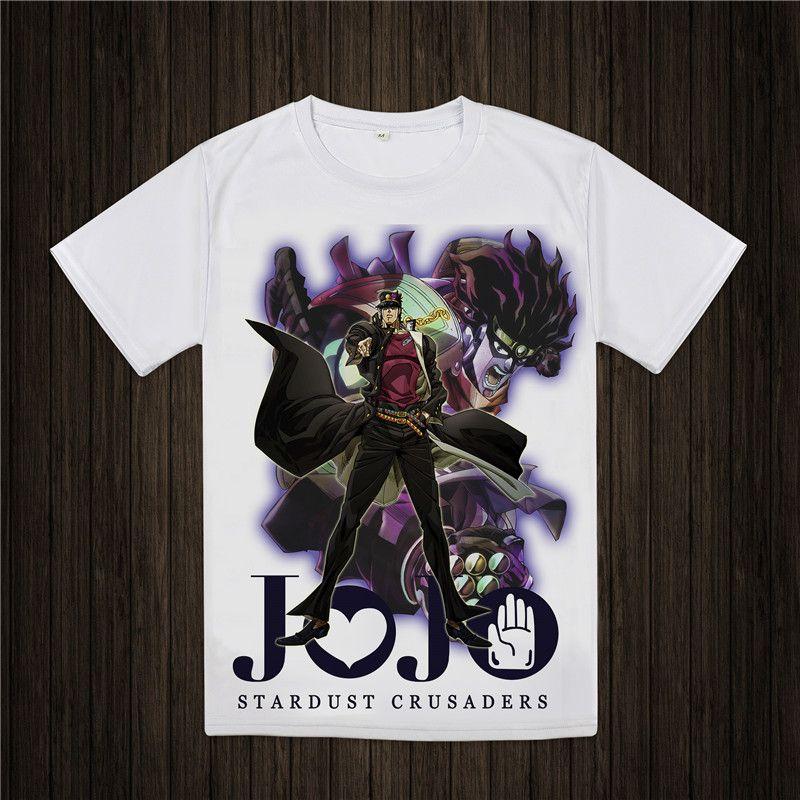 JoJo Bizarre aventure T-shirt Design Manga Anime T-shirt Cool nouveauté drôle T-shirt Style hommes femmes imprimé mode T-shirt