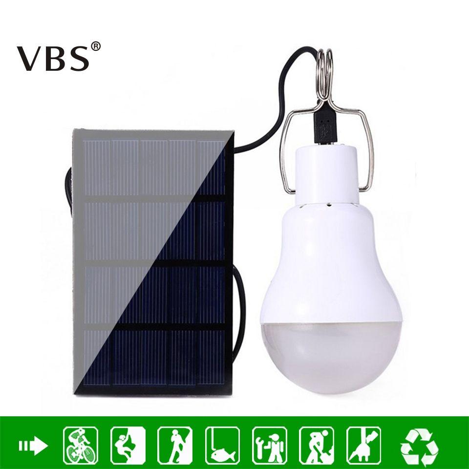 LED Solaire Alimenté Portable Led Ampoule Lampe Solaire D'énergie Lampe LED Éclairage Panneau Solaire Lumière Camping Lumière Équivalent À 15 w