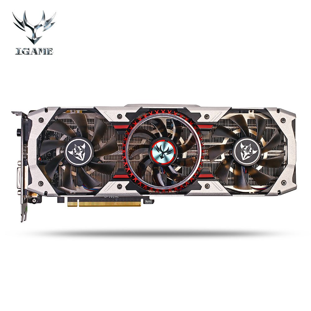 Colorful iGame GTX 1080Ti Vulcan AD Gaming Video Graphics Card 1708MHz 11GB GDDR5X 352bit SLI VR Ready Video Card For Desktop