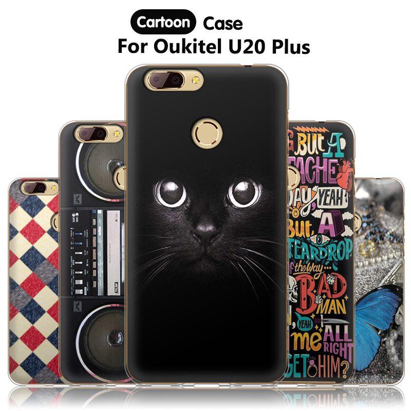 JURCHEN Capa Case For Oukitel U20 Plus Case Silicone TPU Back Cover For Oukitel U20 Plus Phone Case Cover Cartoon Cute Soft 5.5