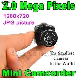 2017 хит продаж Y2000 Cmos супер Спортивная мини-видеокамера на Камера миниатюрная карманная 640*480 480 P Mini DV DVR видеокамеры Wi Регистраторы веб-камера ...