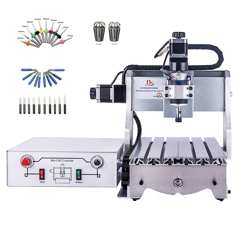 3axis small CNC router 300W CNC 3020 DC power spindle motor engraving machine drilling router engraver