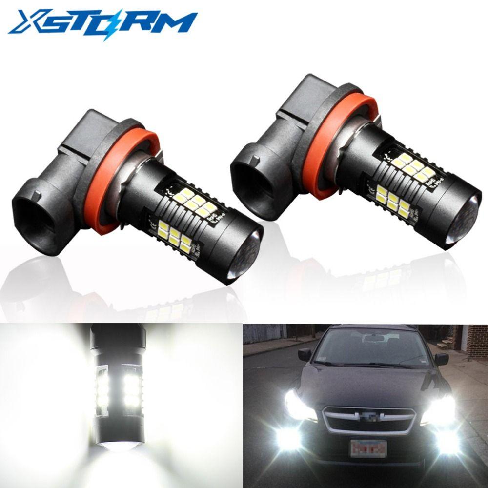 2Pcs H8 H11 Led HB4 9006 HB3 9005 Fog Lights Bulb 1200LM 6000K White Car Driving Daytime Running Lamp Auto Leds Light 12V 24V