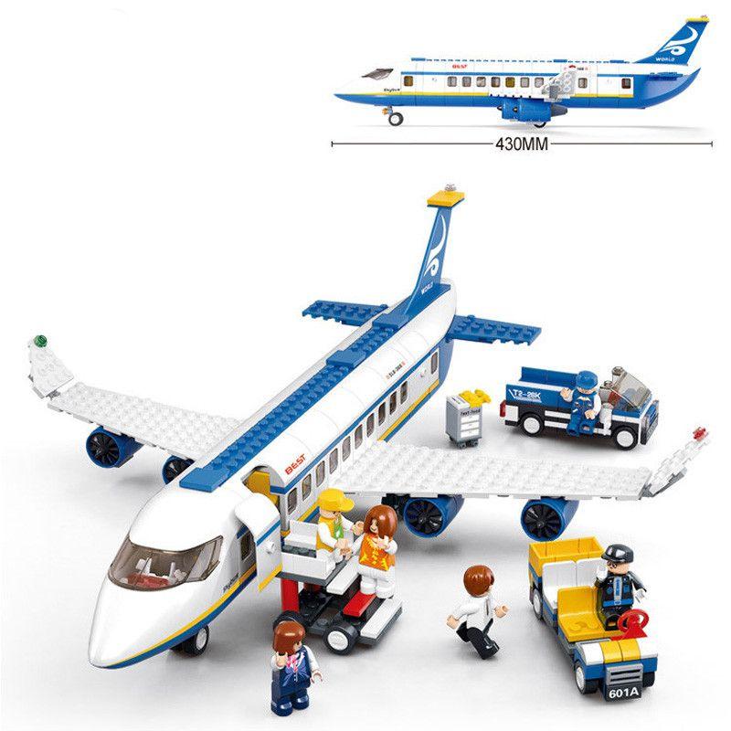Nouveau 463 pcs Air Avion Aéroport Passager fit legoings city aircraft figures Building Blocks Briques Garçon Jouets garçon enfant cadeau enfant ensemble