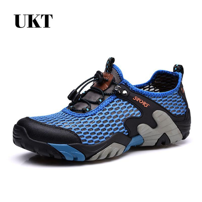 Nouveaux hommes escalade en amont chaussure de randonnée marche en plein air Sport respirant grandes chaussures de Sport-séchage rapide pour l'été grande taille
