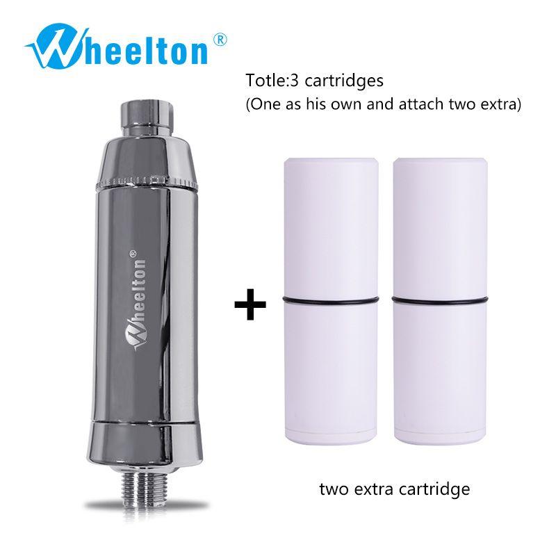 Filtre à eau de douche de bain Wheelton (H-301-2E) adoucisseur chlore et élimination des métaux lourds purificateur santé baignade pour la santé baignade