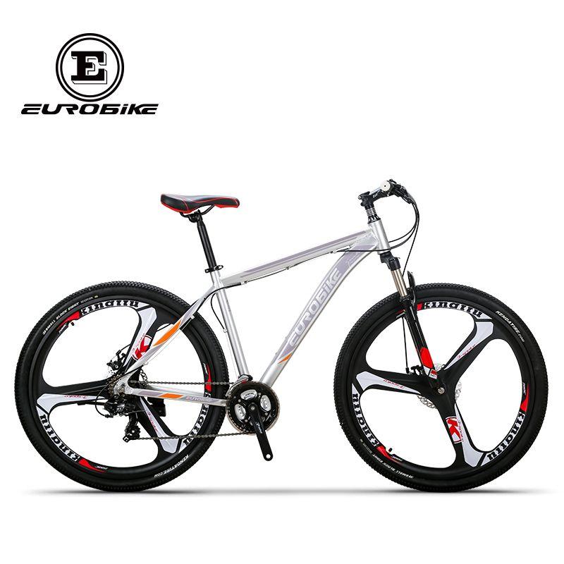 EUROBIKE Mountain Bike 21 Speed 3-Spoke 29 Inches Wheels Dual Disc Brake Aluminum Frame MTB Bicycle