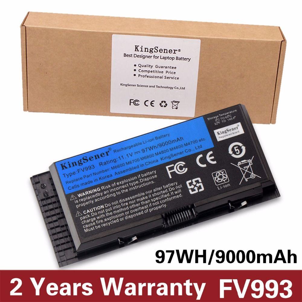 KingSener Corée Cellulaire FV993 Batterie Pour DELL Precision M6600 M6700 M6800 M4800 M4600 M4700 FJJ4W PG6RC R7PND OTN1K5 11.1 v 97WH