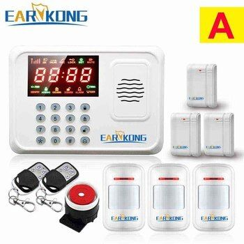 Security Protection Wireless 433MHz GSM Alarm System White Color Home Burglar Alarm System Inside Antenna Keyboard Motion Sensor