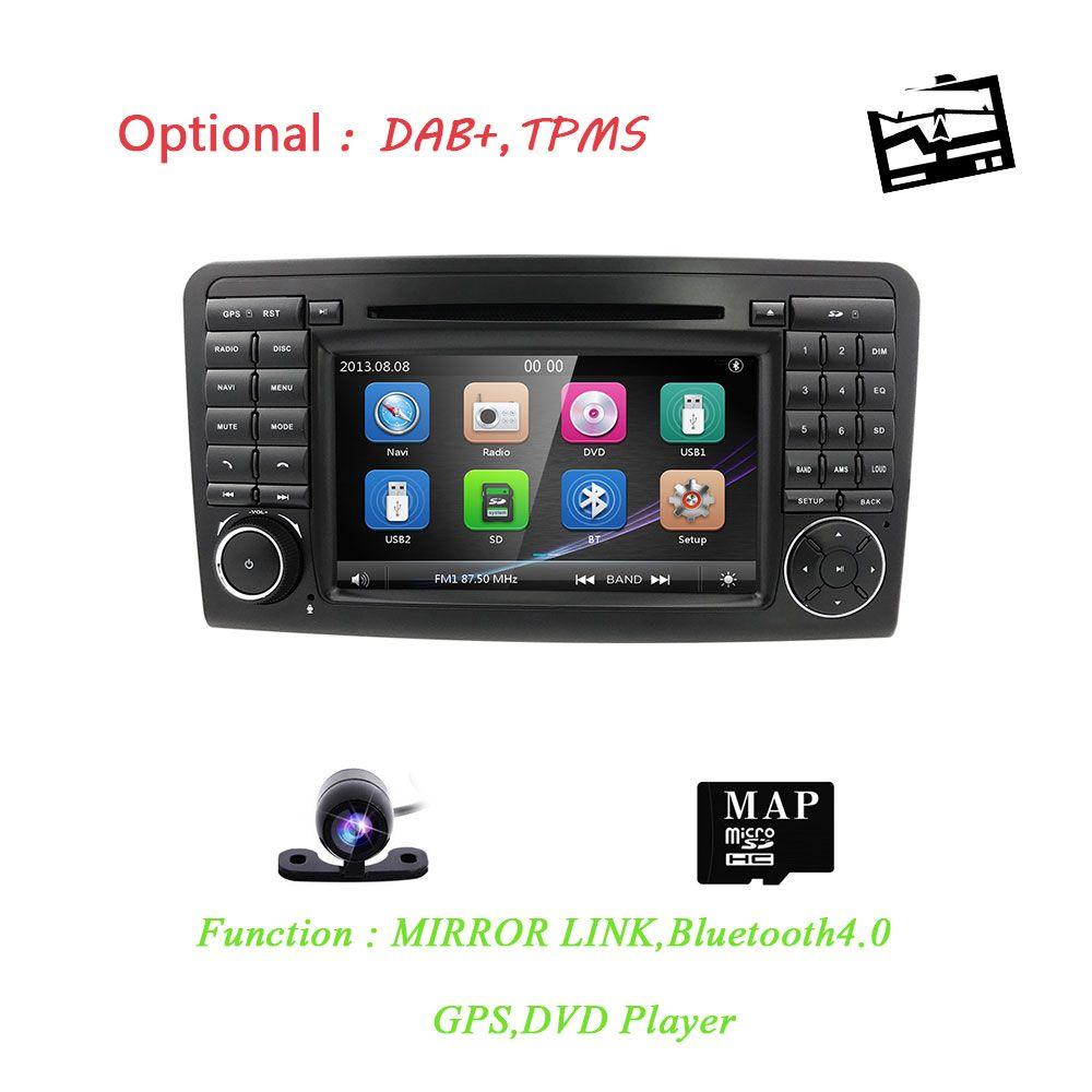Car DVD radio for Mercedes Benz ML W164 ML300 350 450 320 ML63 AMG GL X164 GL 320 350 420 450 500 GPS RDS Camera CAN BUS SD Card