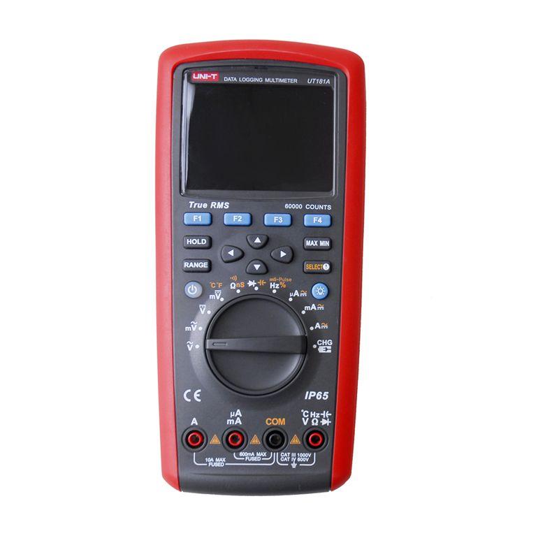 UNI-T UT181A True RMS Datalogging Digital Multimeters DMM Capacitance Temperature Meter w/Re-Chargeable Li-Battery