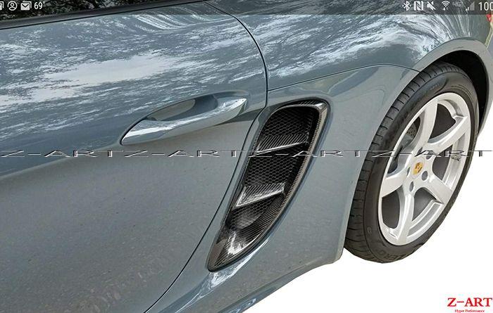718 OEM full carbon fiber side vents for Porsche 718 Boxster Cayman 2016-2017 carbon fiber refit side vents for Porsche 718