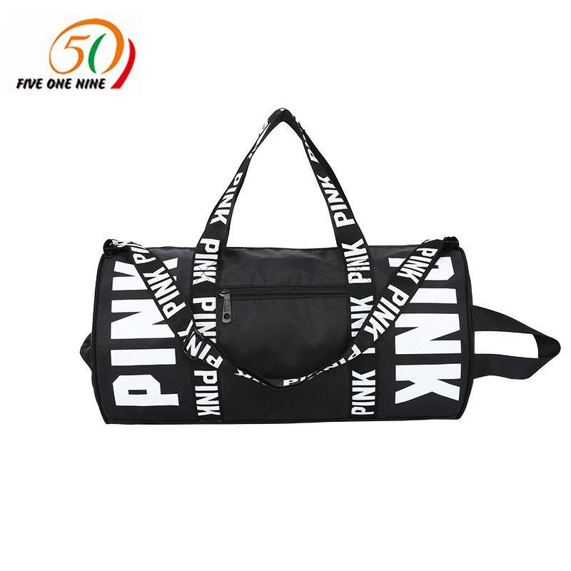 VS   fashion girl stripe duffle bag  colorful VS Zipper Shoulder Versatile Sack Summer Holiday Beach letter bag Shopping  bag