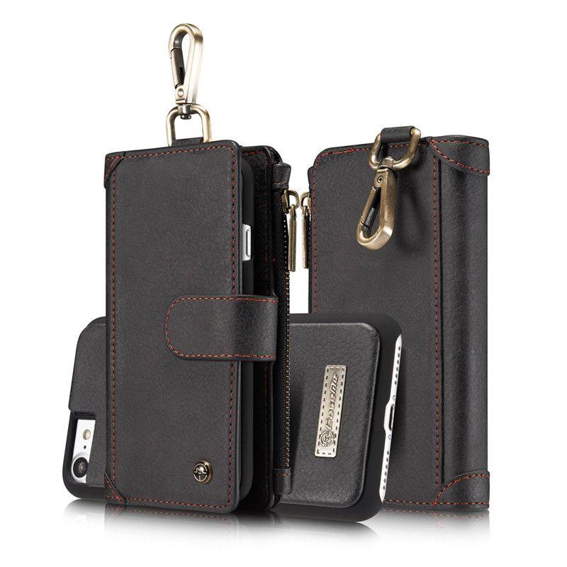 360 vollen Schutz Ledertasche Tasche Für Apple iPhone 7 Plus 7 Magnetische Mappen-schlag-abdeckung Phone Cases Karten Slots Metallschnalle