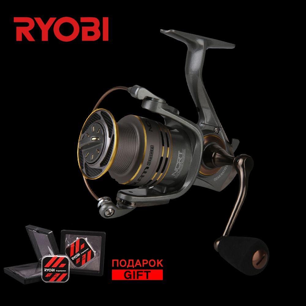 RYOBI SLAM 1000/2000/3000/4000 Carbon Lightweight Wheel Freshwater Stronger Smooth Cast Titanium Concept Carp Spinning Reels