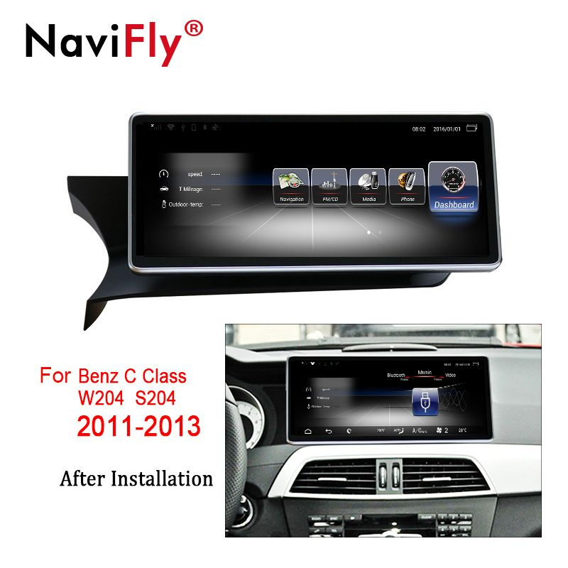 NaviFly 3 + 32 Android 7.1 auto multimedia-player für Mercedes Benz C Klasse C-Klasse W204/S204 2011 zu 2013 GPS Video Audio 4G LTE