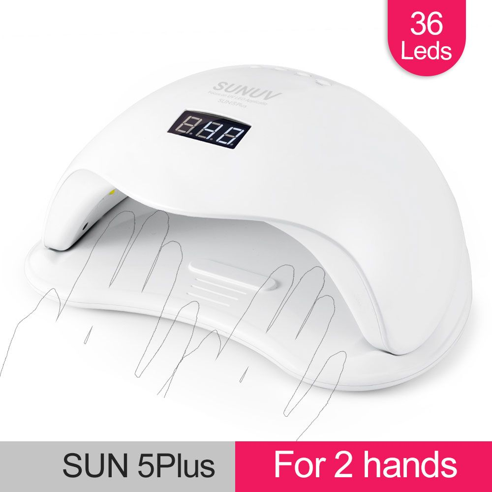 SUNUV SUN5 Plus 48W UV Light Nail Dryer for All Gels Dual Hands 36Leds Manicure Lamp Auto Sensor Bottom