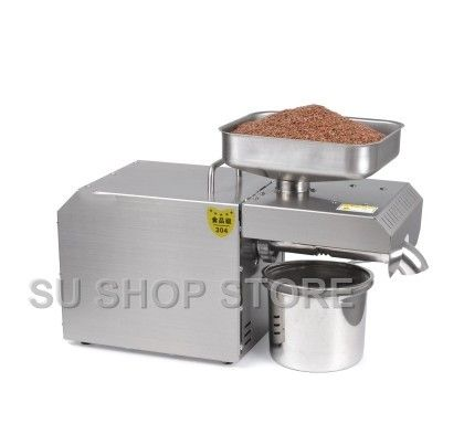 hot and cold commercial oil press machine high oil extraction rate peanut sesame oil press machine price