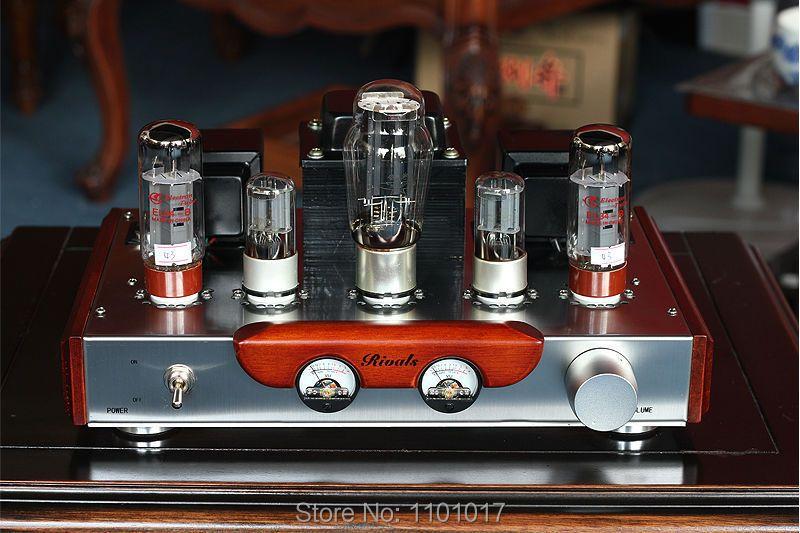 Himing rivaux RH34W EL34 amplificateur de Tube HIFI EXQUIS Version en bois unique intégré à la main échafaudage Amp