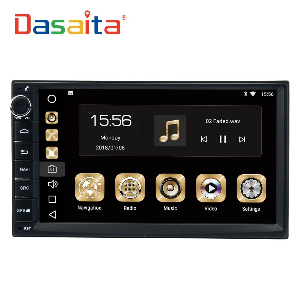 Dasaita Android 8.0 car double din car radio 4*50W universal for Nissan Qashqai X-Trail Patrol tiida Versa Livina Navara NP300