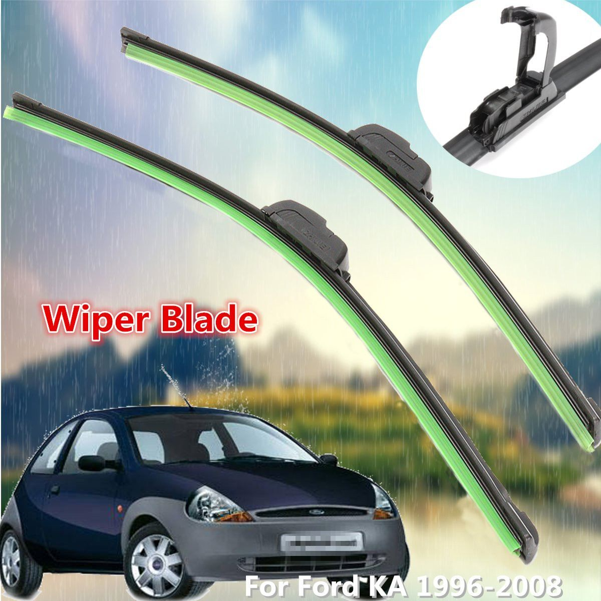 Front Windscreen 19 17 Flat Wiper Blade For Ford KA 1996-2008 Car Replacement