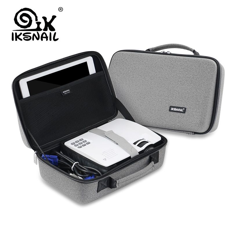 IKSNAIL LED Proyector Bag For Xgimi Z3 GP70 AKEY1 C80 AUN Mini Support Most Projector Accessories Protective Portable Bag