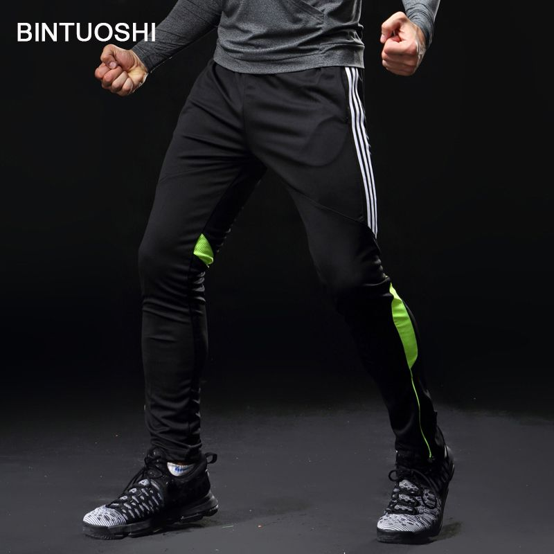 BINTUOSHI Soccer Training Pants Men With Pocket Football Trousers Jogging Fitness Workout Running Sport Pants plus size 5XL pant