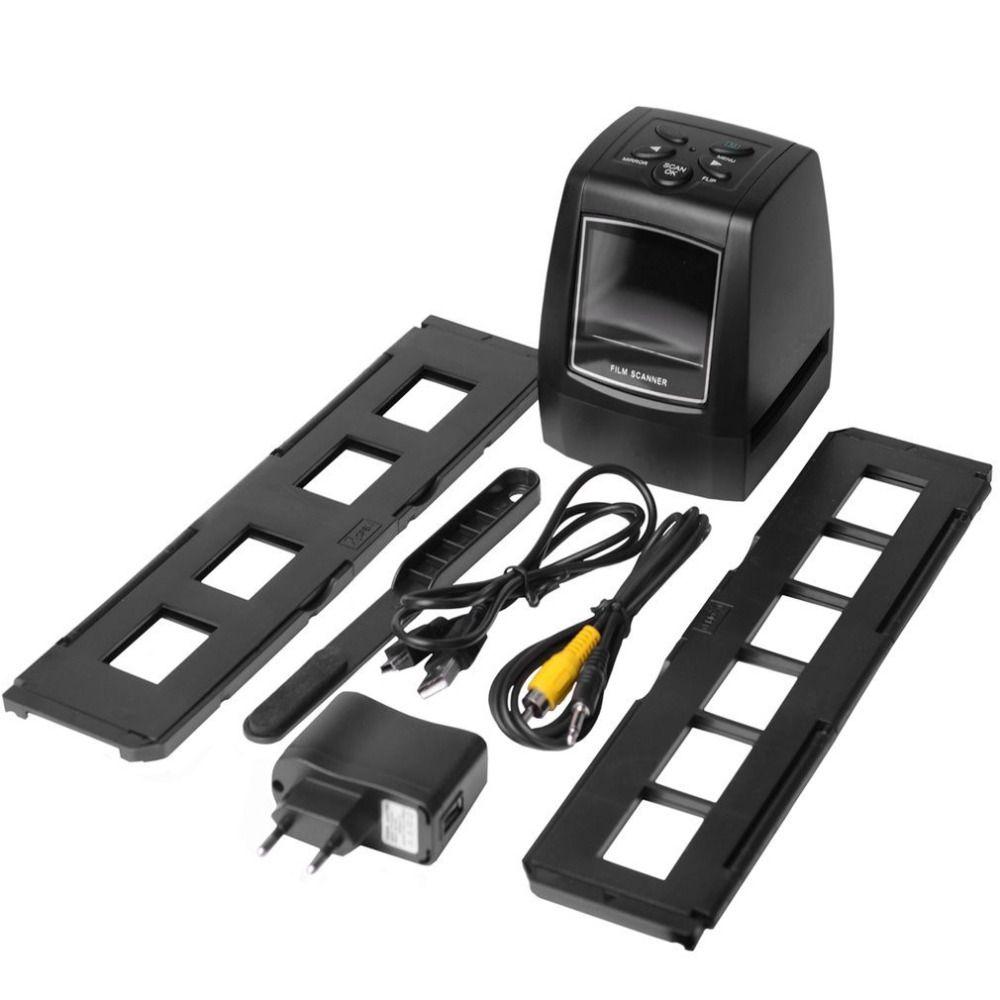 High Fast Photo Printe Resolution Photo Scanner 35mm/135mm Slide Film Scanner Digital USB Film <font><b>Converter</b></font> 2.36 LCD screen