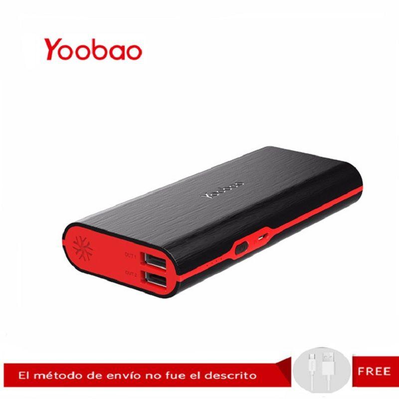 Yoobao M10 10000 mAh batterie externe Mobile 5 V/2A batterie avec 2 USB sortie chargeur Portable d'urgence pour iPhone 7 Xiaomi Redmi3